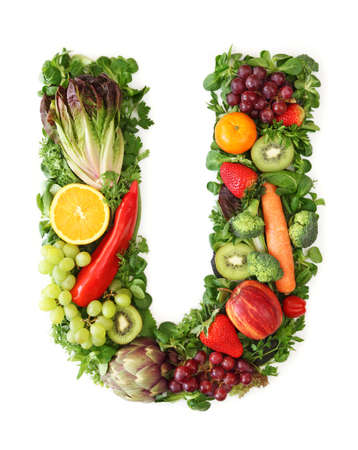 Fruit and vegetable alphabet - letter U photo