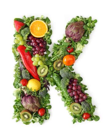 Fruit and vegetable alphabet - letter K Stock Photo - 9402364