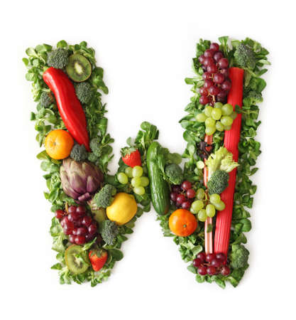 Fruit and vegetable alphabet - letter W photo