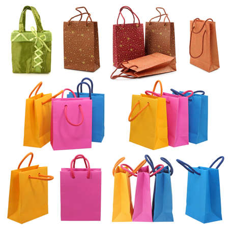 Shopping bags collection Stock Photo - 9443510