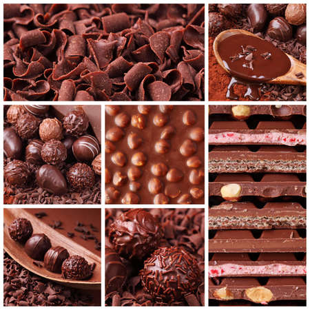 Chocolate collage photo