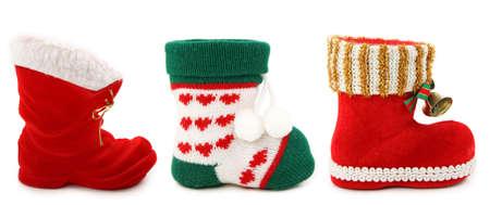 botas de navidad: Navidad vac�o arranca aislado sobre fondo blanco