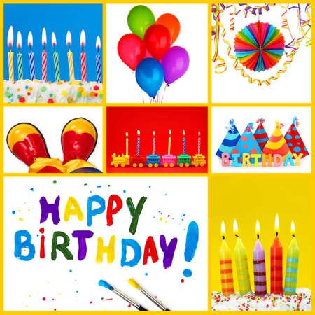 Birthday collage photo