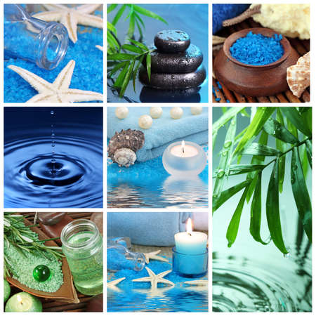 alternative wellness: Blue spa collage