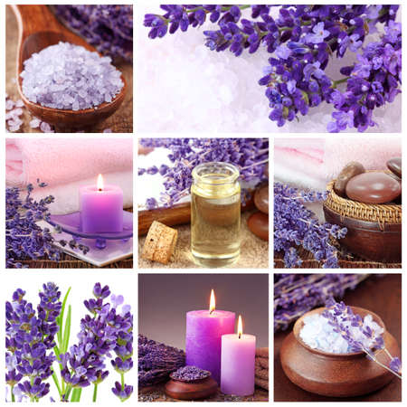 essentials: Lavender spa collage