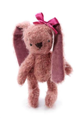 plush toy: Hare toy isolated on white background Stock Photo