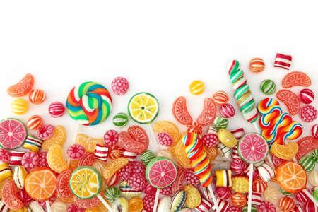 chupetines: Bomb�n de fruta colorida mixto de cerca