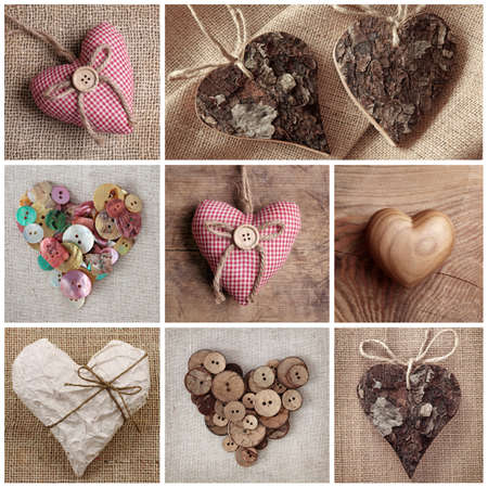 Hearts collage photo