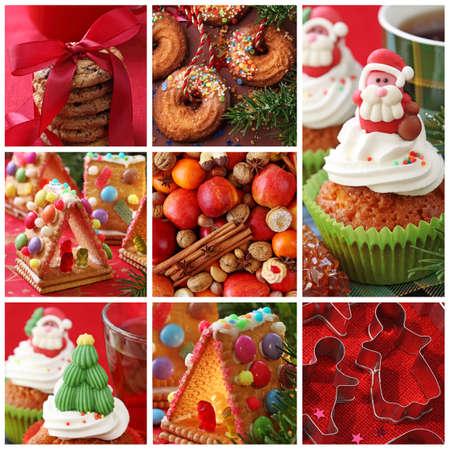 Collage christmas cakes photo