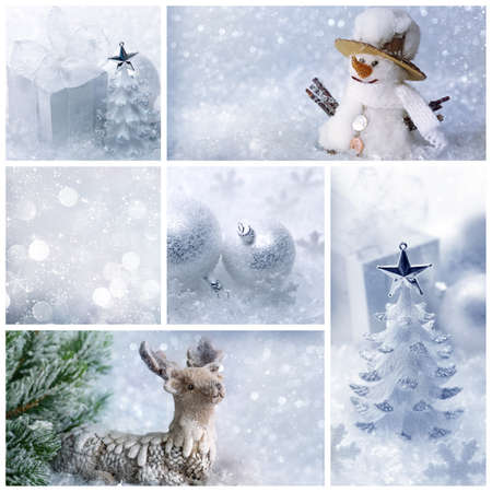 White christmas collage photo