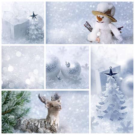 White christmas collage photo