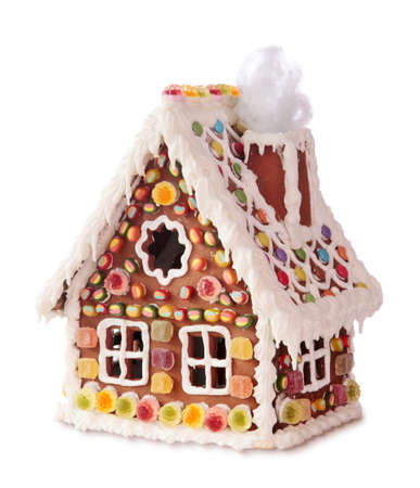 german food: Homemade gingerbread house Stock Photo