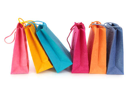 Colorful shopping bags isolated on white background Stock Photo - 11872872