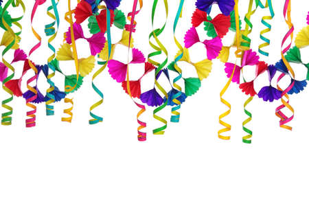 streamers: Party decoration isolated on white background