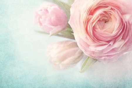 florero: Flores de color rosa en un florero