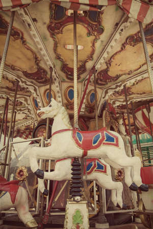 marry go round: Carousel merry-go-round  at an amusement park