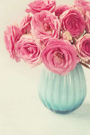 Pink flowers in a vase Stock Photo - 15062801