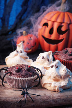 halloween spider: Halloween sweets for Halloween party Stock Photo