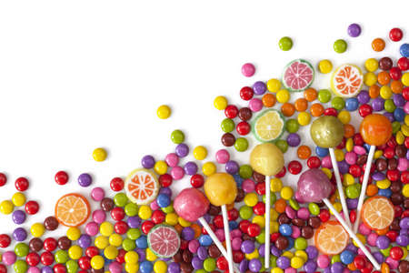 colourful candy: Mixed colorful sweets close up