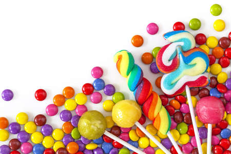 Mixed colorful sweets close up photo