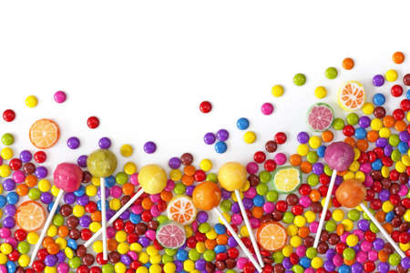lollypop: Mixed colorful sweets close up