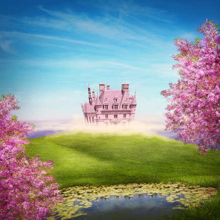castillos de princesas: Fairy tale paisaje con castillo