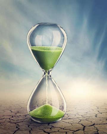 Tijd concept met een zandloper