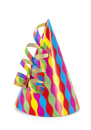 party hat: Party hat isolated on white background Stock Photo