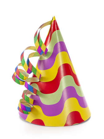 fasching: Party hat isolated on white background Stock Photo