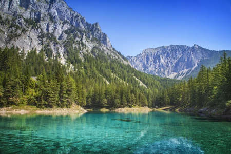 alpine water: Green Lake in Styria, Austria