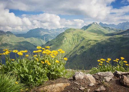 Mountains landscape in Vorarlberg, Austria photo