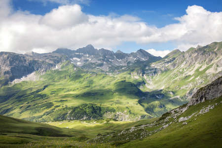 Mountains landscape in Vorarlberg, Austria Stock Photo - 21643460