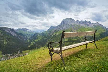european alps: Mountains landscape in Vorarlberg, Austria