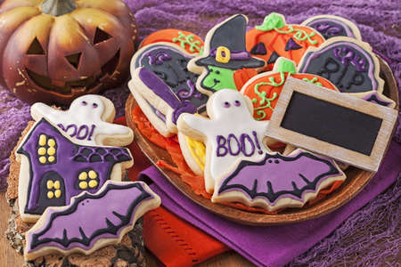 dessert: Colorful cookies for halloween party