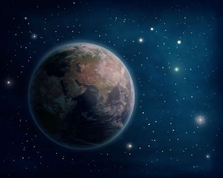 imagery: Planet Earth and stars (Nasa imagery)