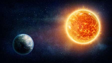 imagery: Planet Earth, sun and stars (Nasa imagery)