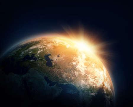 imagery: Planet Earth and sun (Nasa imagery)