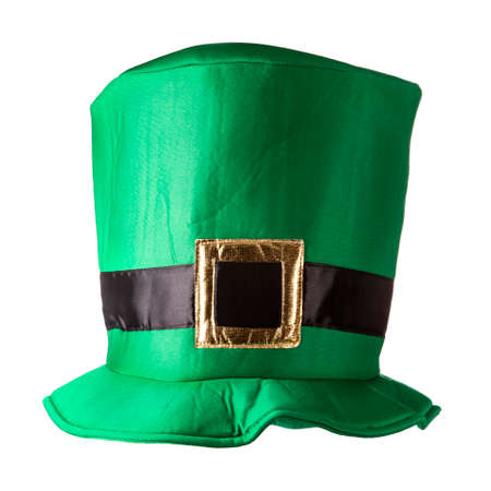 Green St. Patrick's Day hat isolated on white background photo