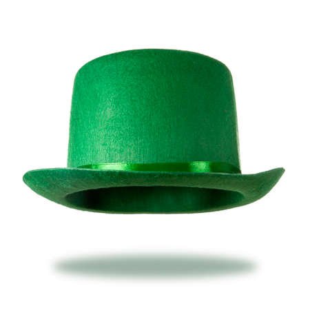 Green St. Patricks Day hat isolated on white background photo
