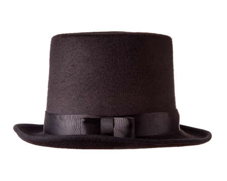 Black top hat isolated on white background photo