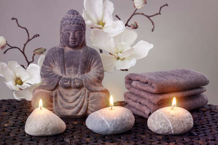 Buddha in meditation, religious concept photo