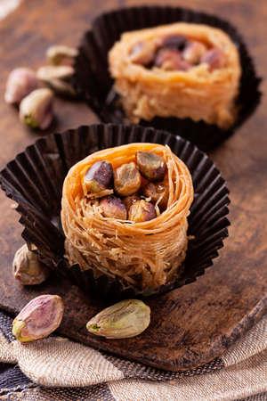 baklawa: Kanafeh cheese pastry arabic sweets