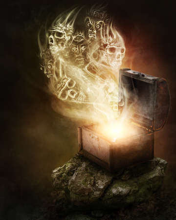tribulation: Pandoras box and scull smoke
