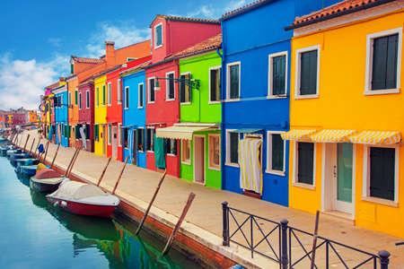 ヴェネツィアの潟にある島、ブラーノ島 写真素材