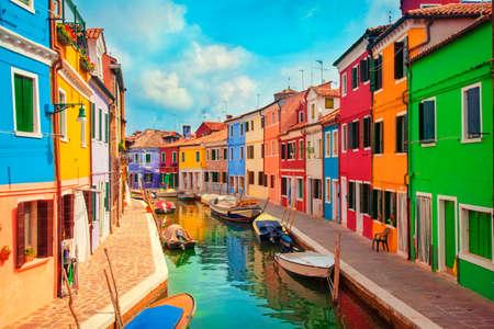 Burano, een eiland in de lagune van Venetië Stockfoto