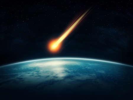 atmosfera: Meteor volar a la tierra