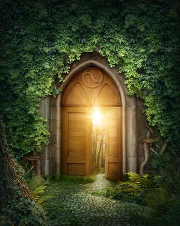 magie: Entr�e myst�rieuse � la vie nouvelle ou d�but Banque d'images