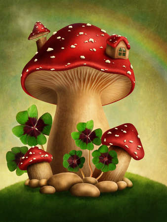 adventure story: Magic mushrooms and four leaf clover