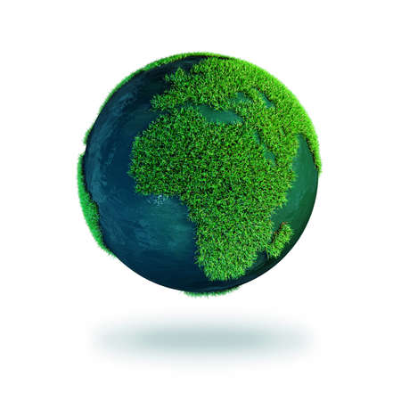 world earth day: Planet earth isolated on a white background