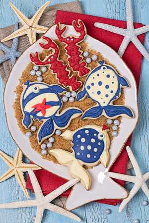 lobster boat: Cookies for a marine party